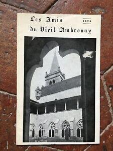 Les Amis du Vieil Ambronay fascicule de 1972