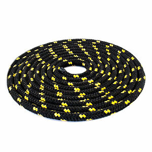 10mm Braided Polypropylene Poly Rope Cord Boat Yacht Sailing Black With Spots 9minjly0-10103010-329382913