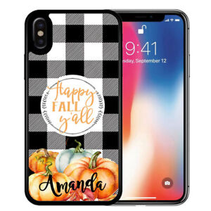 Personalized-Rubber-Case-fits-iPhone-11-Pro-Xr-Xs-X-Max-8-7-6-Buffalo-Plaid-Fall