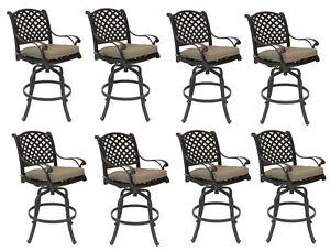Nassau-bar-stools-Set-of-8-swivel-outdoor-patio-furniture-cast-aluminum