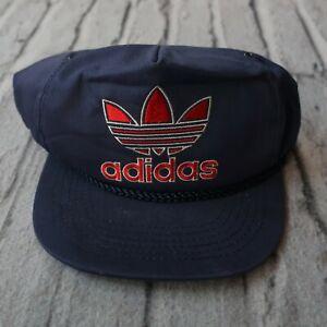 ffb30d7c90721 Details about Vintage 80s Adidas Trefoil Big Logo Snapback Hat