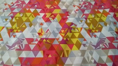New-100/% Cotton-Andover Fabrics Multi Colour Geometric Design