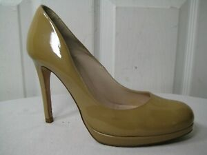 LK Bennett Sledge Nude Patent Leather Pumps Heels Shoes