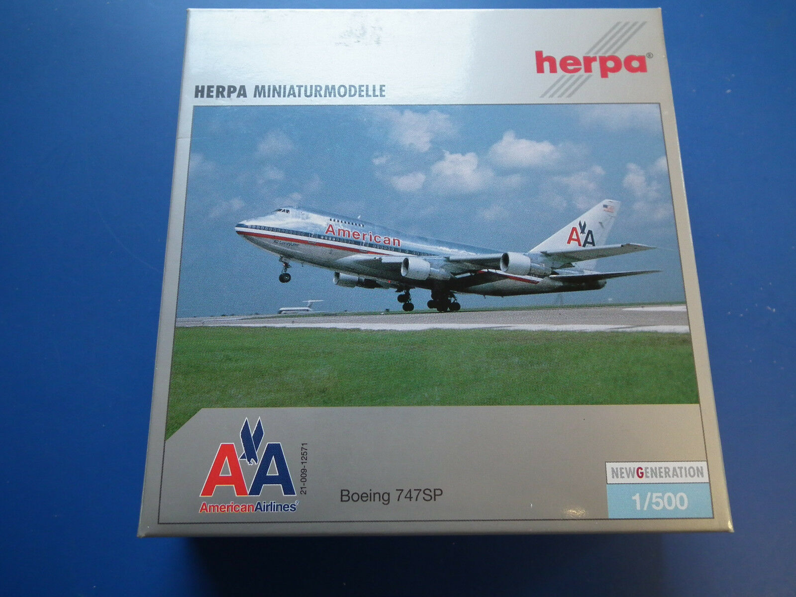 HERPA 1 500 - - - 504003 AMERICAN AIRLINES BOEING 747SP -LIMITED EDITION-OVP-TOP 23c3b3