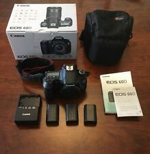 Canon EOS 60D 18.0MP Digital SLR Camera - Black (Body Only) Assorted Accessories