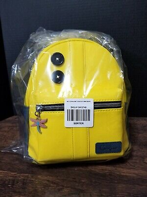Loungefly Coraline Cosplay Mini Backpack Yellow Raincoat With Buttons Nwt Ebay