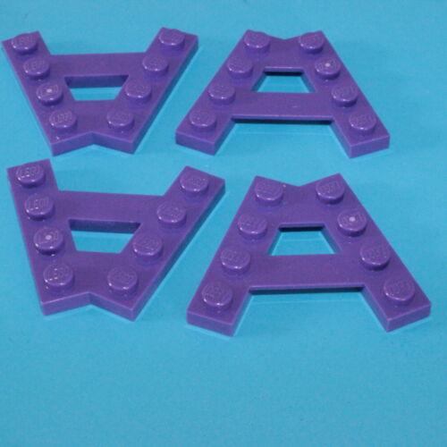 LEGO® 4x Flügelplatte A-Form 4 Noppen 2 Reihen lila dark purple 6147010