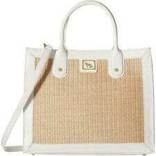 Emma Fox Glenham Straw Boxy Tote White/Natural Tote Handbags