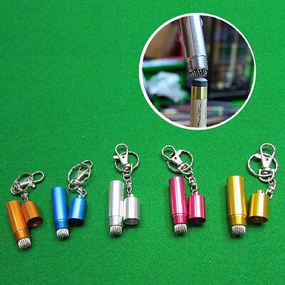Billiard//Pool Table Cue Tip Shaper Pick Metal Repair  Keychain Accessories WA