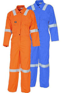 ddd105ad2019 Image is loading Wenaas-Indura-Flame-Resistant-Coverall-UltraSoft-Hi-Vis-