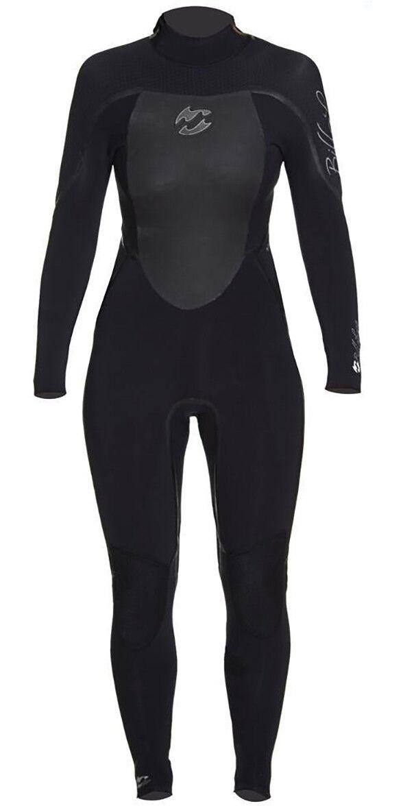 Billabong SG5 solución para Mujer Traje con capucha Gratis 5 4 3mm 14 16 Negro F45G01