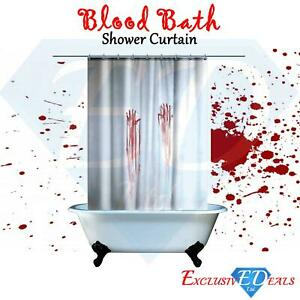 Blutbad Duschvorhang Spooky Halloween Blutige Hande Horror Badezimmer Neuheit Ebay