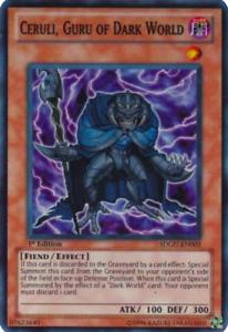 Guru of Dark World Super Rare 1st Edition yugioh 1X NM Ceruli SDGU-EN003