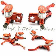 Universal Motorcycle Master Cylinder Reservoir Hydraulic Brake Clutch Lever Pair