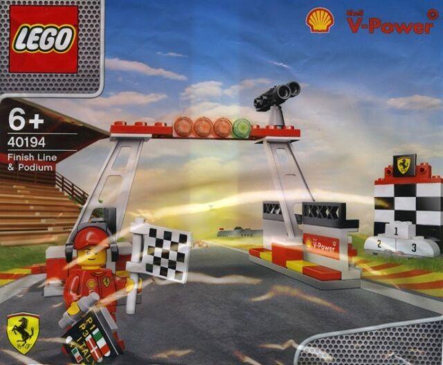 LEGO Shell 40194 V-Power Shell Ziellinie Finish Line + Ferrari Figur