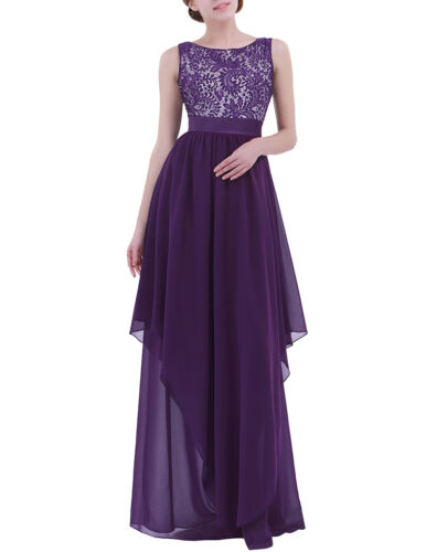 Women Ball Gown Bridesmaid Dress Ladies Evening Party Cocktail Maxi Formal Dress