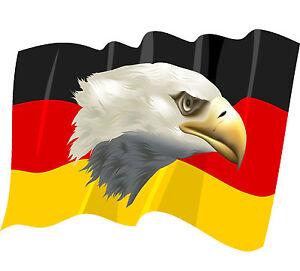 8x10 5 cm premium aufkleber fahne deutschland wehend adler. Black Bedroom Furniture Sets. Home Design Ideas