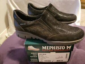 Mephisto-Yelda-Black-Bucksoft-Sneakers-US-8-EU-5-5-Leather-Suede