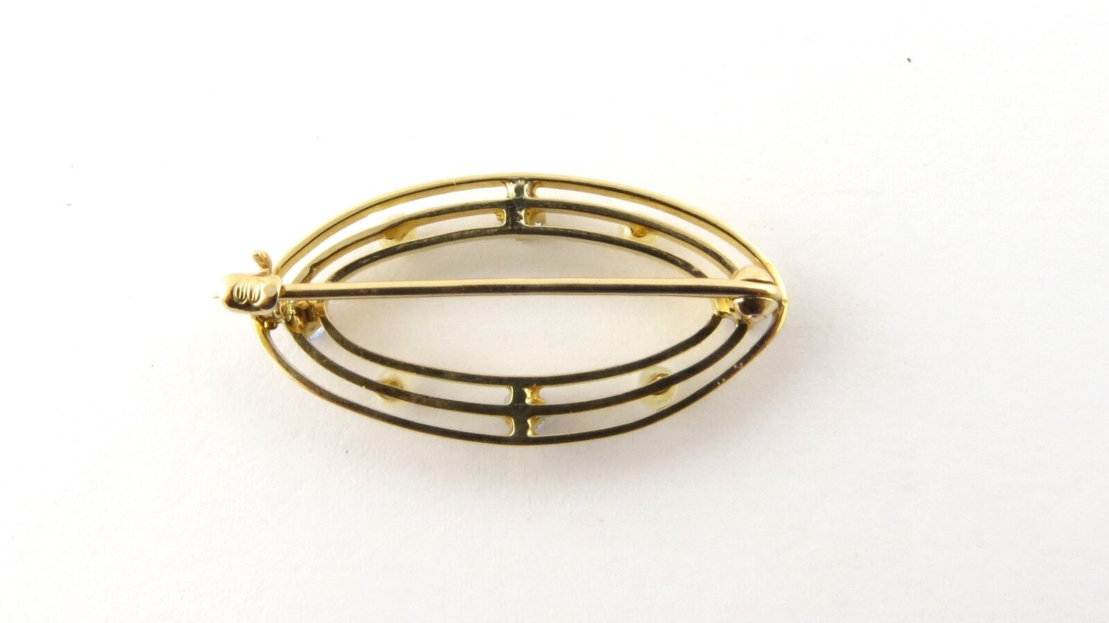 Vintage 10 Karat Yellow Gold Synthetic Sapphire a… - image 3