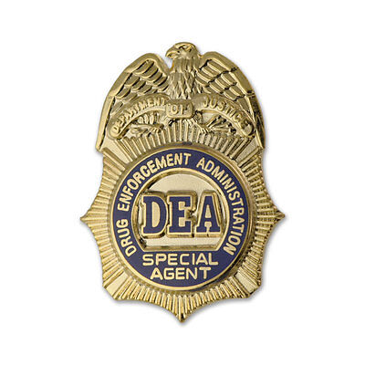 DEA Special Agent badge lapel pin Drug Enforcement Administration NEW Authentic
