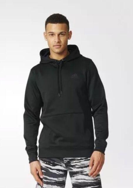 670b77d264a5 Adidas Mens Team Issue Fleece Sweatshirt Pullover Hoodie Black AY9558 SZ  2XL New