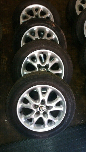 Alfa Romeo 15inch Mag Wheels 5x98 PCD Set of 4 Mag Wheels with tyres   Contact 076 427 8509  Whatsap