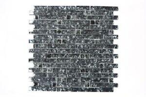 Mosaik-Fliese-Transluzent-Glasmosaik-Crystal-schwarz-87-MV718-13-13-Matten