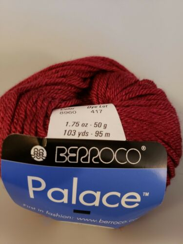 Color 8960 Cranberry Berroco Palace Yarn