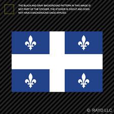 Quebec Flag Sticker Decal Self Adhesive Vinyl Canada qc province