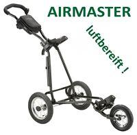 Golfgeschenk: Luxus-golftrolley Airmaster Deluxe Mit 3x Luftreifen - Klappbar