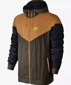 802cce546d39 Men s Nike Windrunner Jacket Brown Orange size XXL 727324 347 ...