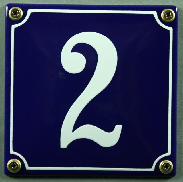 Azul Esmalte Número de casa