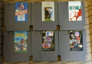 Nintendo NES Games Lot of 6 Great Condition Tested