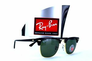 5a7ca0053cd Ray-Ban Clubmaster RB3016 901 58 Black Green Classic Sunglasses 49mm ...