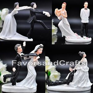 Funny-Wedding-Cake-Toppers-Figurine-Bride-Groom-Humor-Favor-Marriage-Gift-Topper