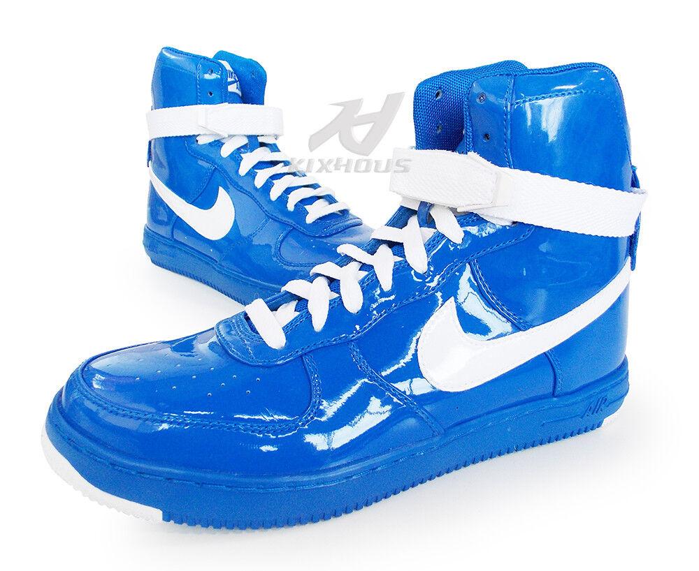 e5a75e01b62 NIKE AIR FEATHER HI Premium WOMEN sz8 bluee sapphire 395751 400 A F1 high