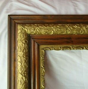 "ANTIQUE FIT 16""x 20"" OAK GOLD GILT PICTURE FRAME FINE ART ORNATE VICTORIAN"