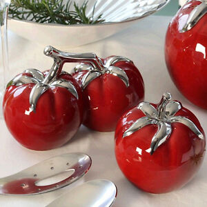 Gilde Deko Objekt Tomate Keramik Gemuse Doppel Oder Einzeln Rot