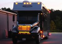 Led Truck Grill Lights - Big Rig Tractor & Trailer Accessory Safety Front Kit