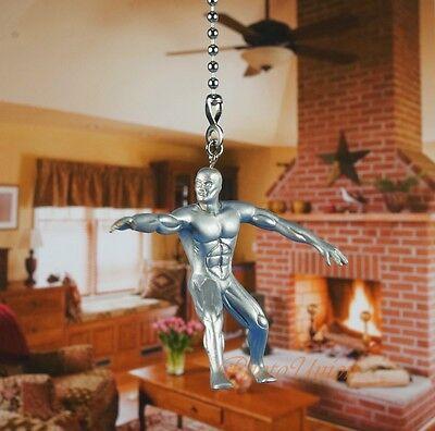 Marvel Superhero Silver Surfer Ceiling Fan Pull Light Lamp Chain Decor K1119 G
