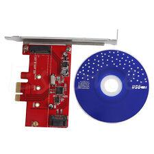 PCI-E Express 2.0 to NGFF M.2 B Key SSD + SATA III 3.0 Combo Adapter Converter