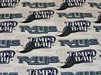 Mlb Tampa Bay Rays Print 100% Cotton Fabric By The 1/2 Yard Vintage 2000