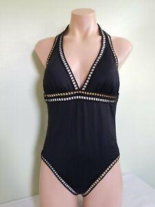 La-Blanca-Threading-Along-black-One-piece-swimsuit-size-12-AI32