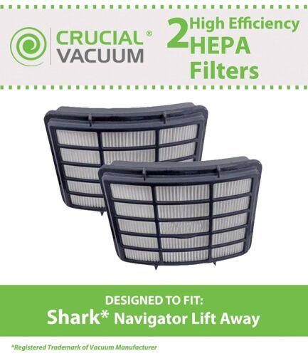 2 REPL Shark Navigator Lift-Away NV350 HEPA Filters Part # XHF350
