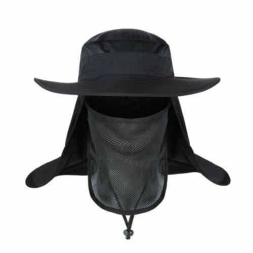 Unisex Fishing Hat 360 UV Sunscreen Sun Cap Mask Summer Outdoor Camping Tool