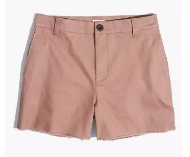 NWT Madewell High Rise Twill Shorts Cotton Stretch 3