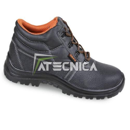 Schuhe Prävention /& Hoch Beta 7243bk S1 aus Leder mit Kabelschuh und Folie