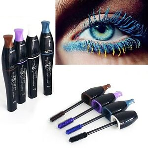 Mascara-Cosmetique-Longueur-Extension-a-long-Cils-Yeux-Etui-Gel-Fibre-Eyelash