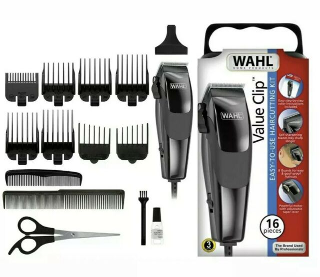 NEW WAHL VALUE CLIP 9155-1701 Professional Haircut Kit Clippers Men Hair Cutting