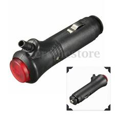 12-24V Enchufe Encendedor Cigarro Mechero Adaptador Cargador Coche LED + Fusible
